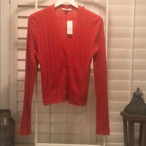 American Eagle lightweight cardigan in red